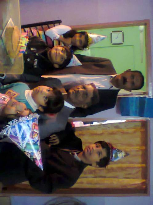 my 75th b day occasion me with my chilrdren and grand children