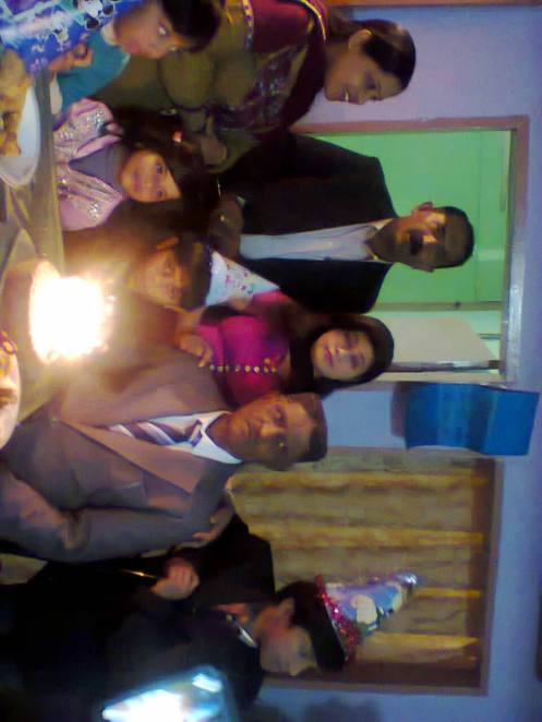 with my children and grand children