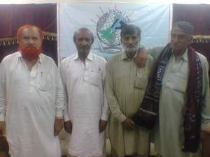 me with majeed mallah, mooso jokhyo and allahrakhyo naeem at press club badin