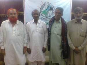 me with mooso jokhyo, allah rakhyo naeem and ma jeed mallah at press club badin