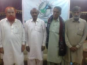 me with mooso jokhyo, majeed mallah, allah rakhyo naeem at press club badin on 18 may 2014