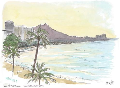 Waikiki view evening sm